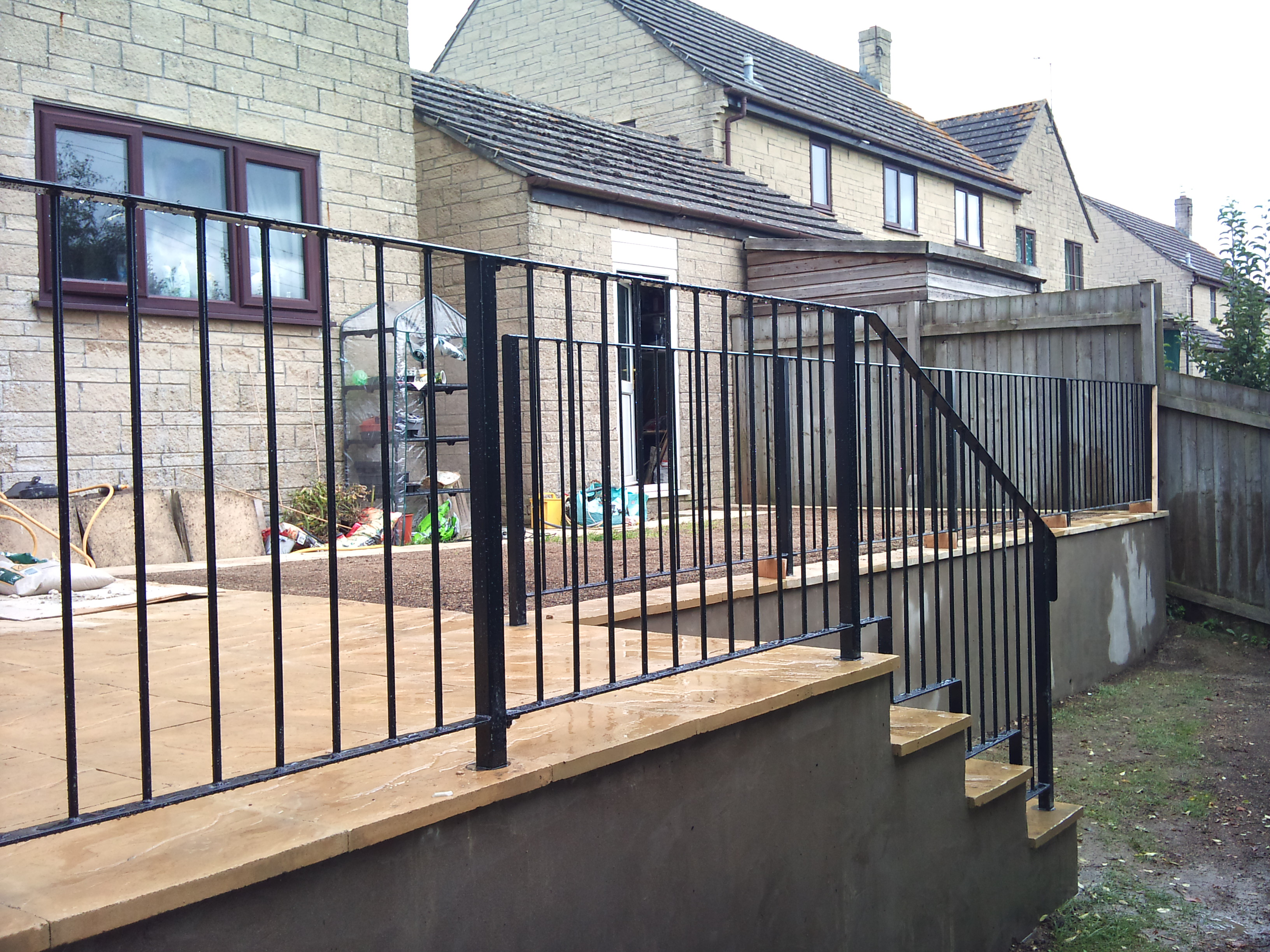 Attractive Railings Down Steps