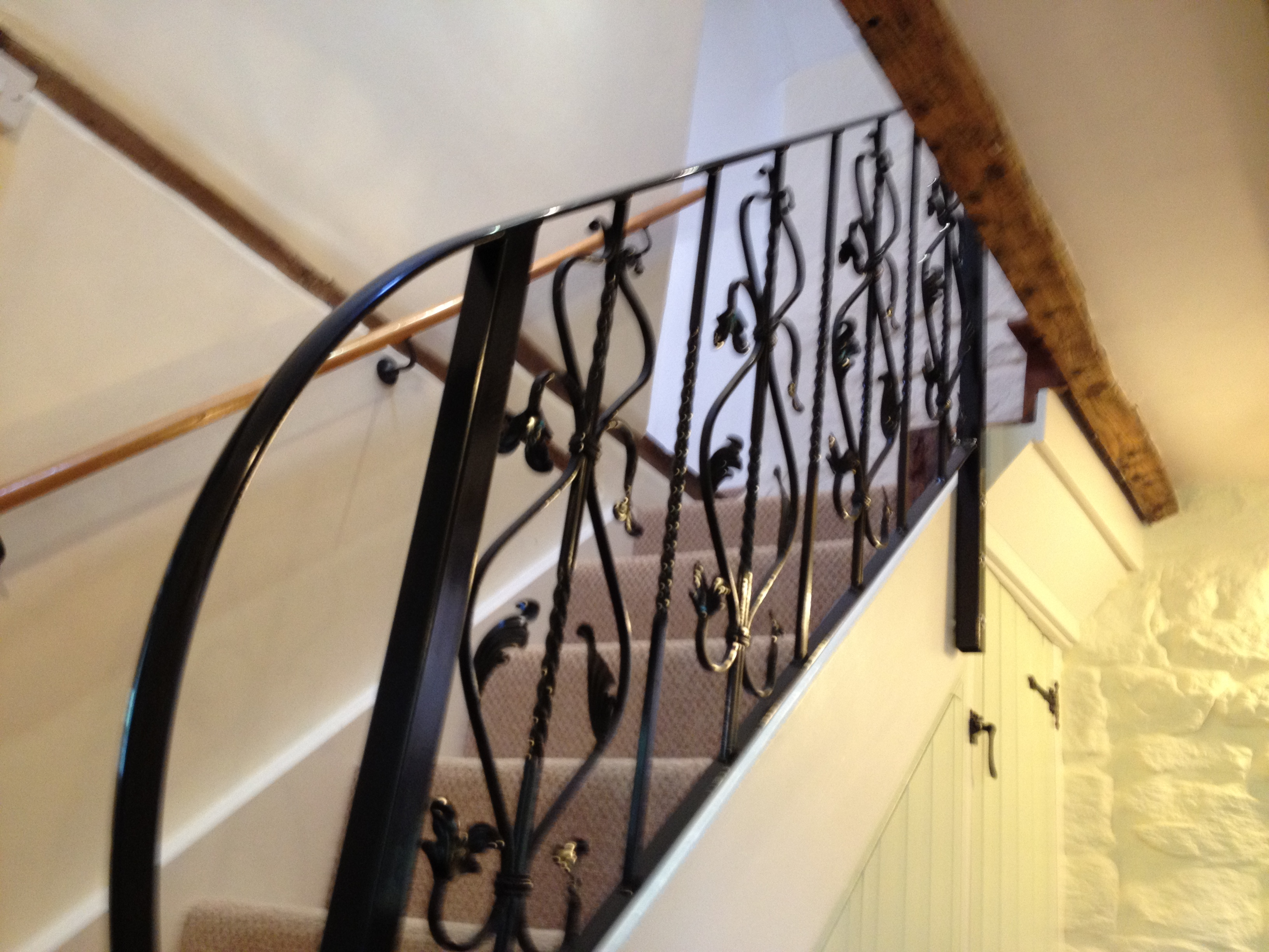 Indoor decorative staircase handrail stroud railings Decorative railings